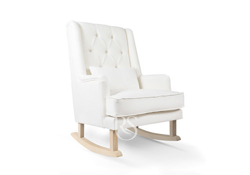 Rocking Seats schommelstoel Royal Rocker - Snow White / Natural
