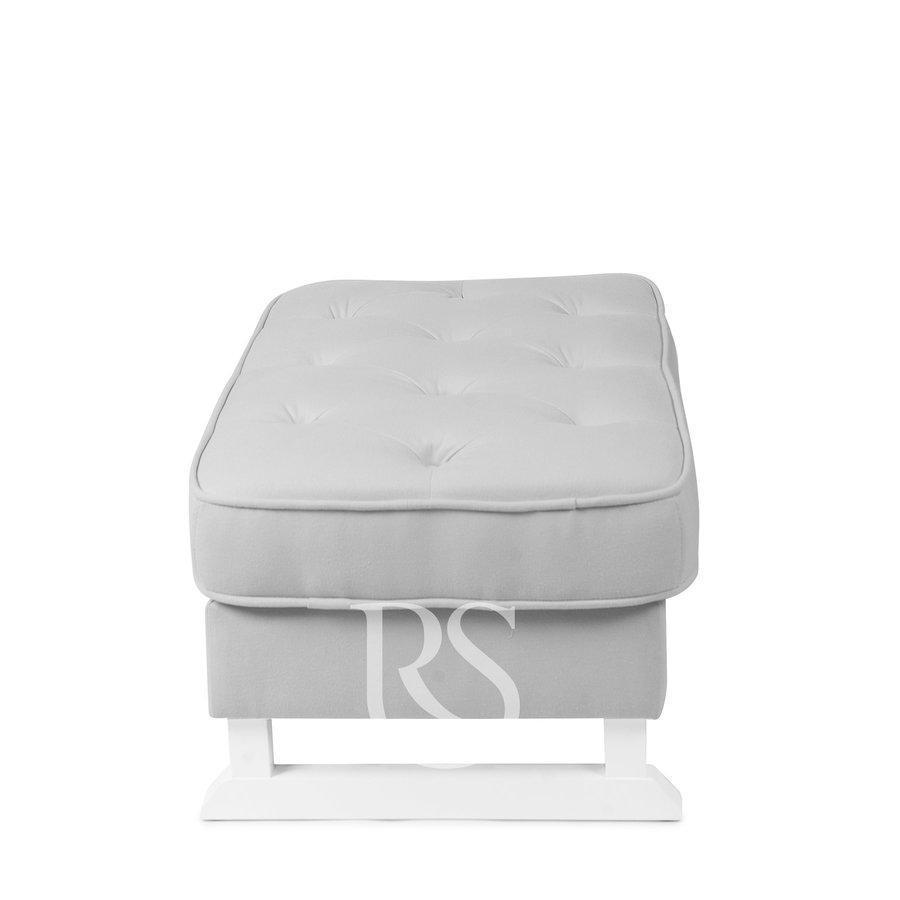 voetenbank Royal - Silver Grey-2