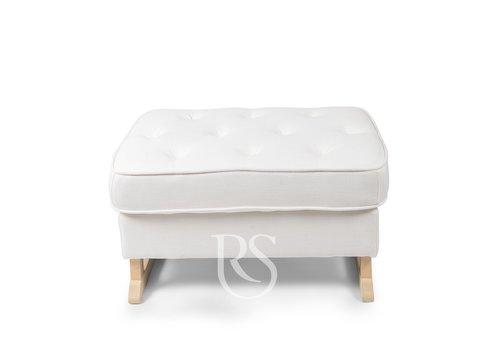 Rocking Seats voetenbank Royal - Snow White / Natural