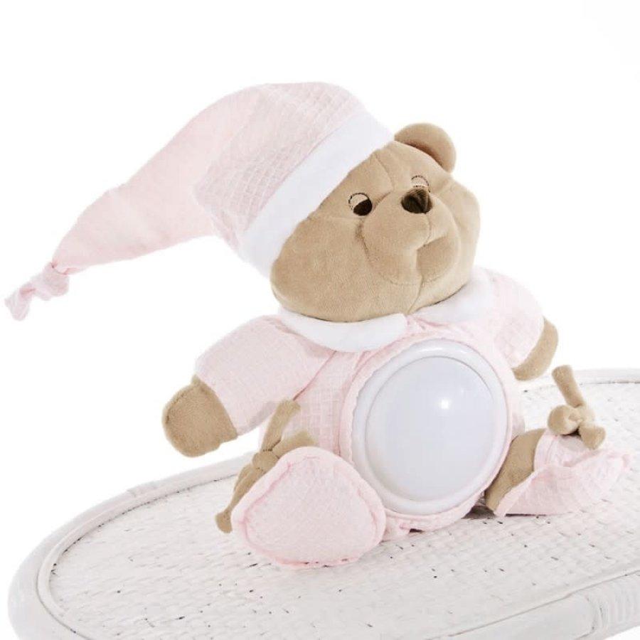 pluche beer met lampje puccio - roze-1