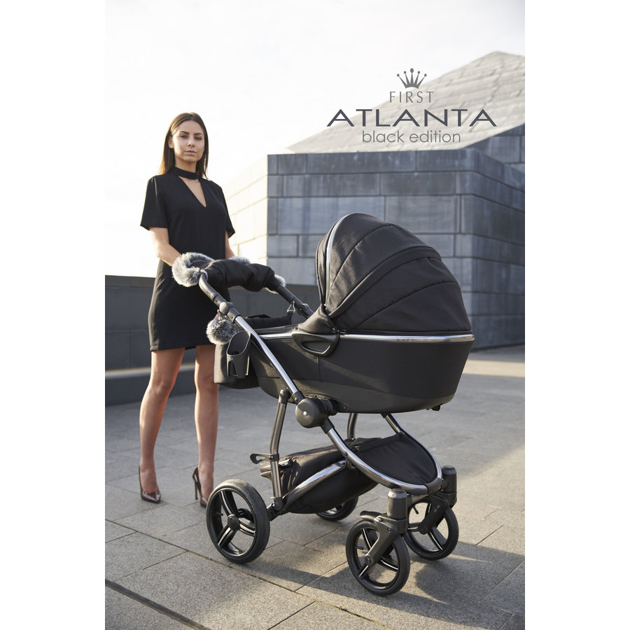 Atlanta kinderwagen - Zwart-5
