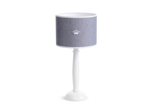 First - My First Collection tafellamp met houten voet - True Blue