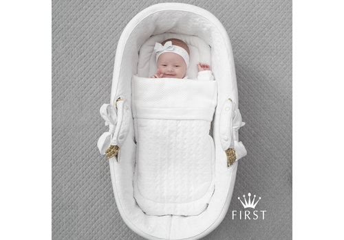 First - My First Collection reiswieg met bekleding - Crystal White