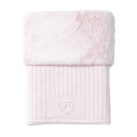 gebreid deken van wol en cashmere - Pretty Pink