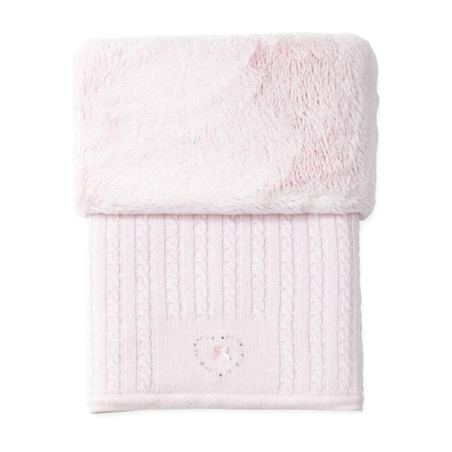 gebreid deken van wol en cashmere - Pretty Pink-1