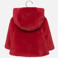 thumb-fake fur jasje - rood-2