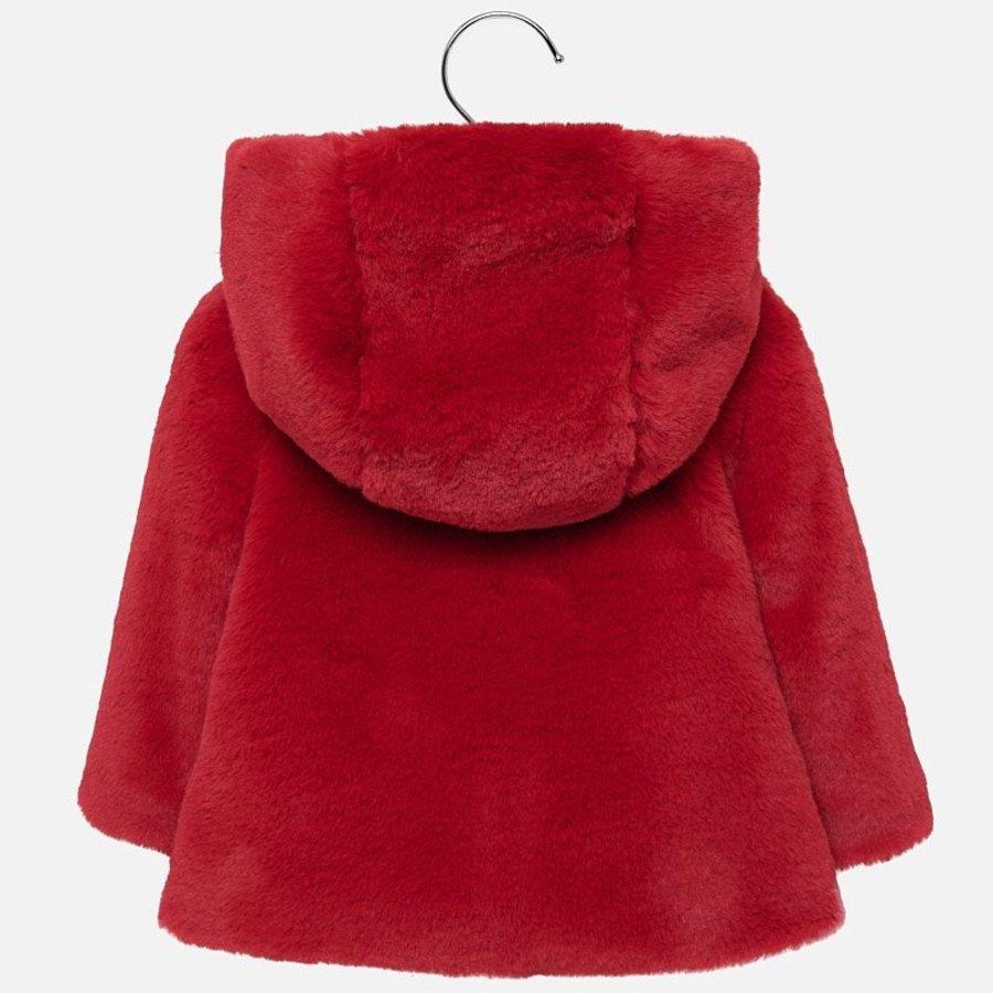 fake fur jasje - rood-2