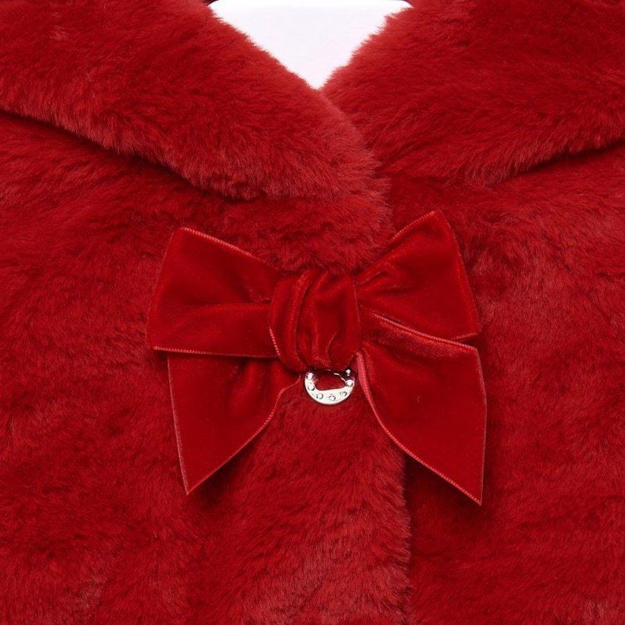fake fur jasje - rood-3