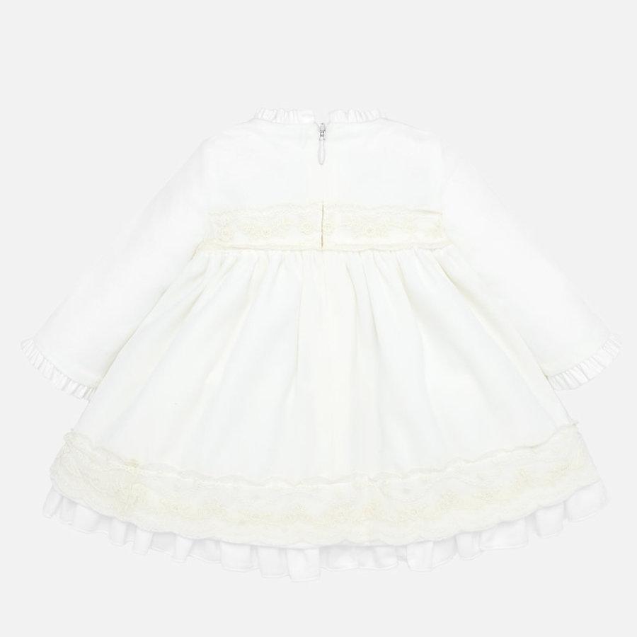 velours jurkje van kant met mutsje-2