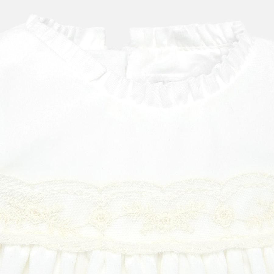 velours jurkje van kant met mutsje-3