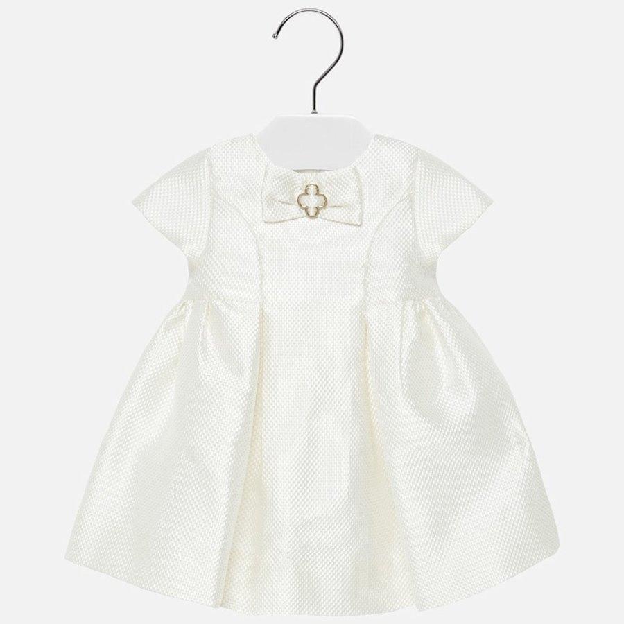 jacquard jurk met strik-1