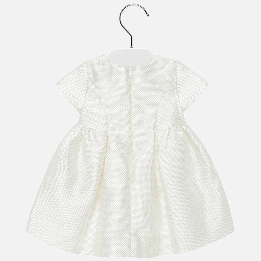 jacquard jurk met strik-2