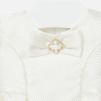 thumb-jacquard jurk met strik-3