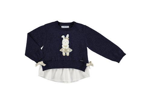 Mayoral trui met blouse en konijn