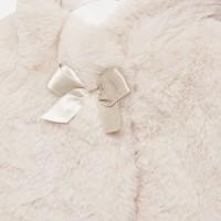 thumb-fake fur jasje met strik - beige-3