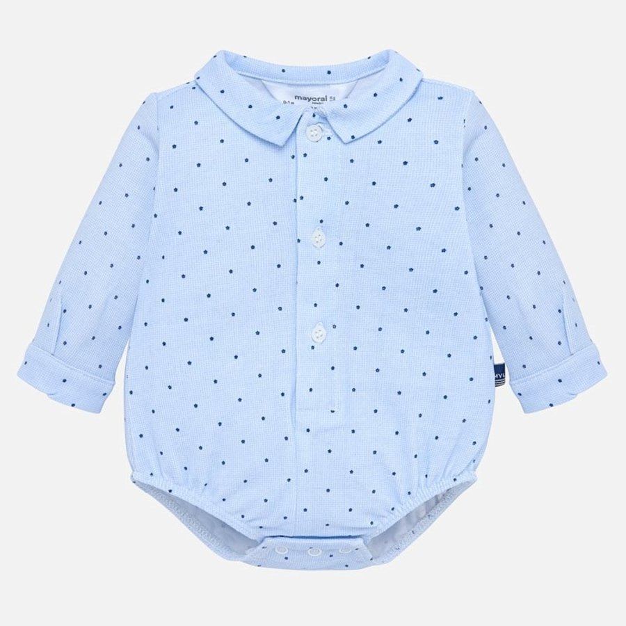romper overhemd met stip-1