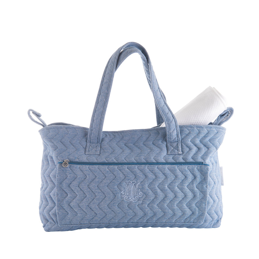 Blue Jeans Verzorgingstas + waskussen - Gewatteerd Jersey-1