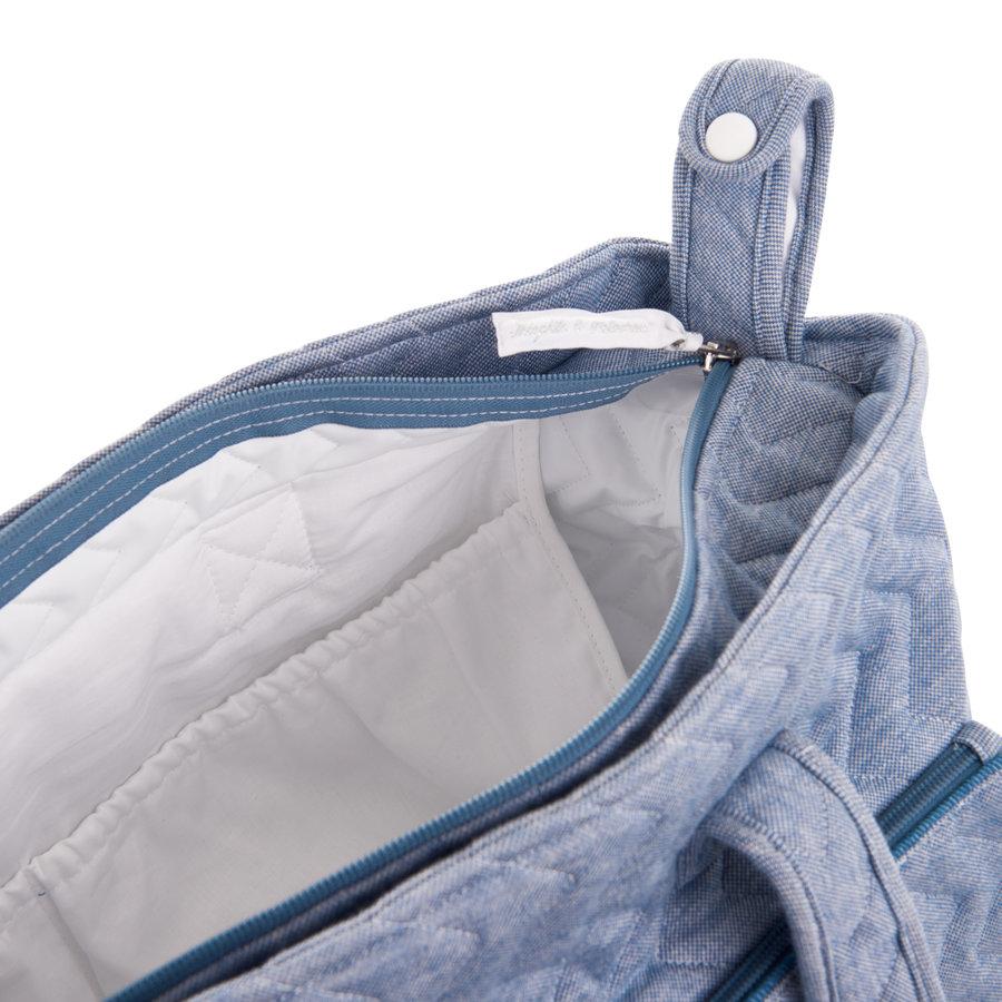 Blue Jeans Verzorgingstas + waskussen - Gewatteerd Jersey-4
