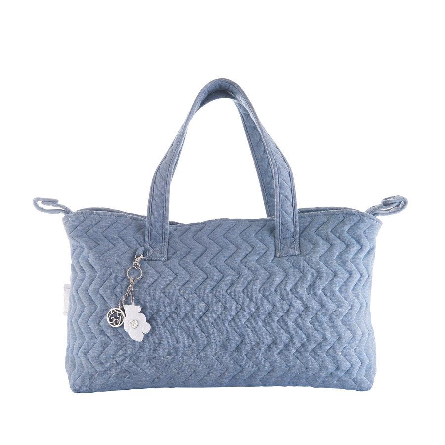 Blue Jeans Verzorgingstas + waskussen - Gewatteerd Jersey-2