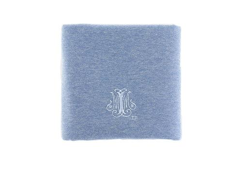 Théophile & Patachou Blue Jeans Doopdeken 100x135cm - Jersey