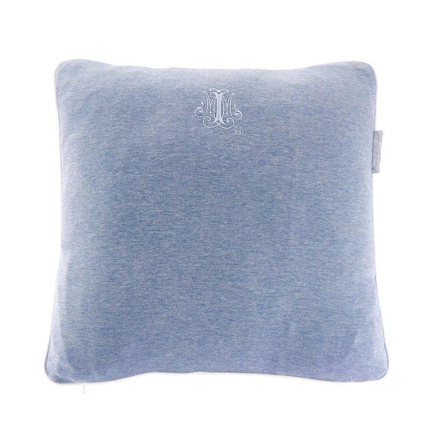 Blue Jeans Kussen geborduurd - Jersey-1