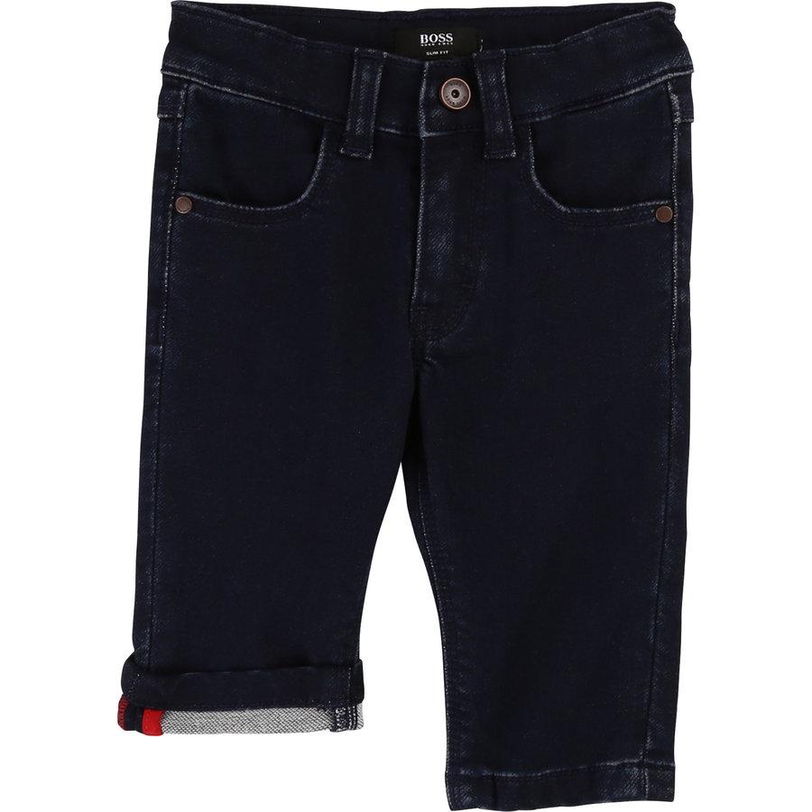 spijkerbroek met logo-2