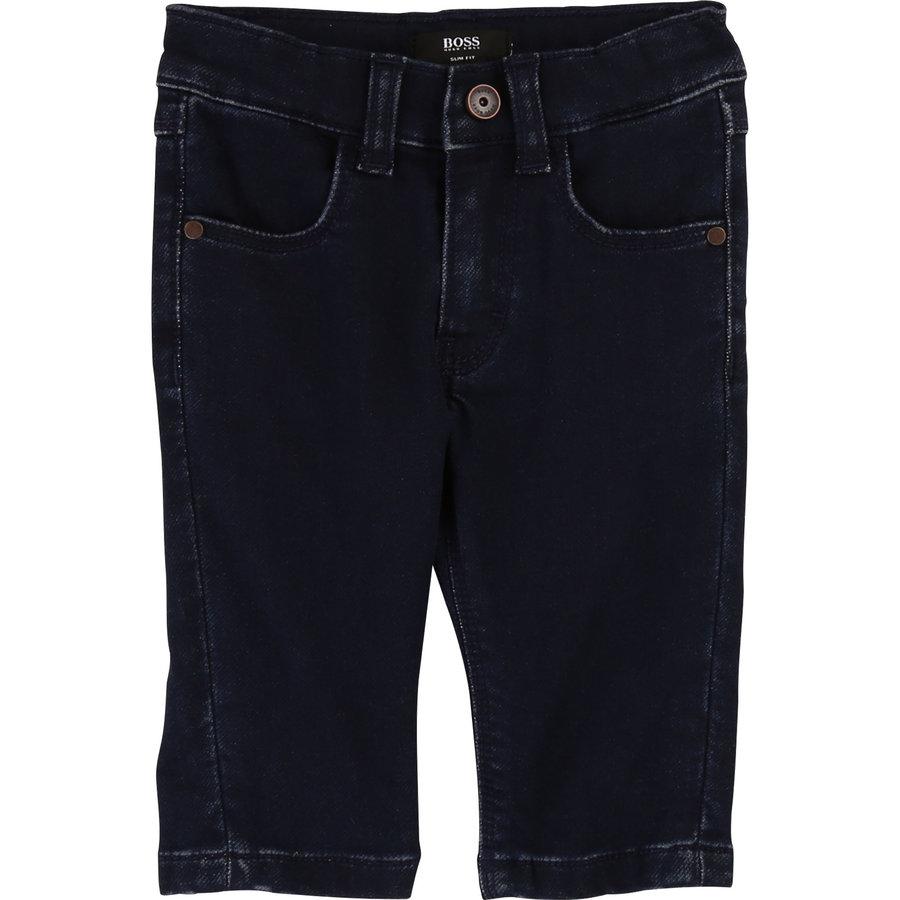 spijkerbroek met logo-3