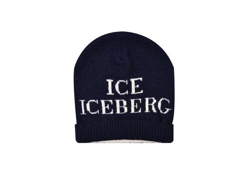 Iceberg muts logo - blauw