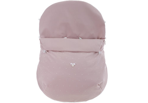 Uzturre voetenzak autostoel - oud roze