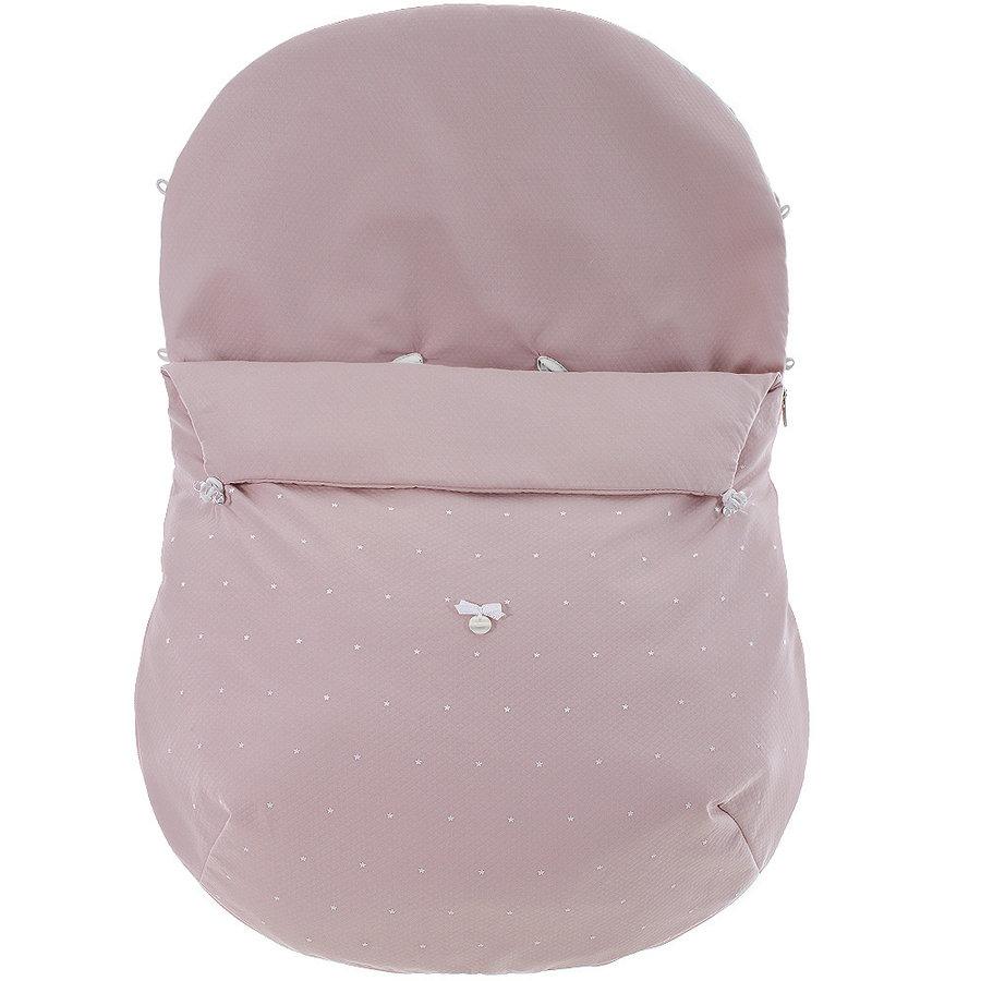 voetenzak autostoel - oud roze-1