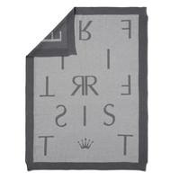 thumb-gebreid deken met First letters-1