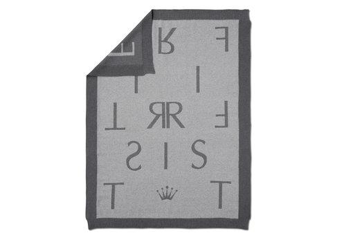 First - My First Collection gebreid deken met First letters