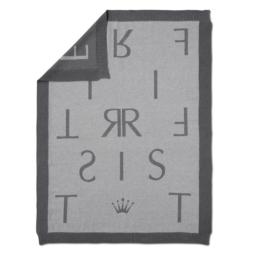 gebreid deken met First letters-1