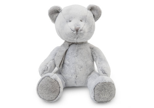 First - My First Collection lichtgrijze teddybeer inclusief geschenkdoos