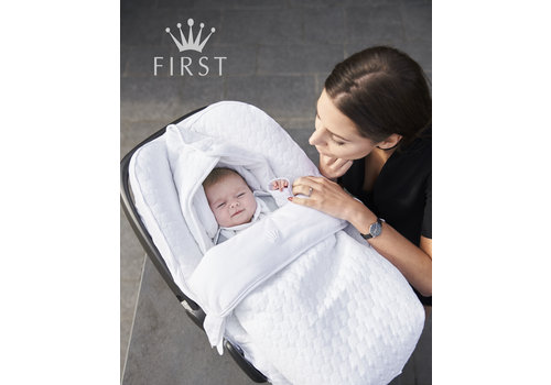 First - My First Collection voetenzak voor de autostoel - crystal white
