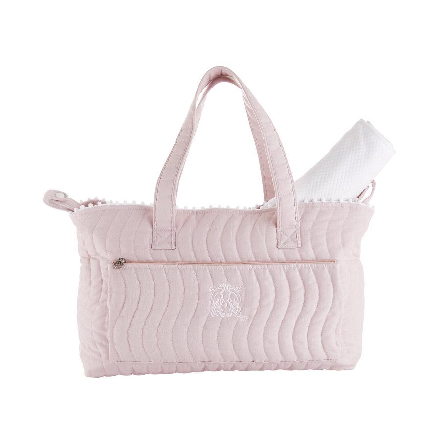 Blush Pink Verzorgingstas + waskussen - Gewatteerd-1
