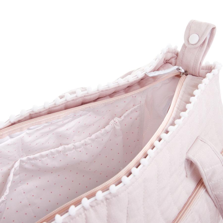 Blush Pink Verzorgingstas + waskussen - Gewatteerd-2