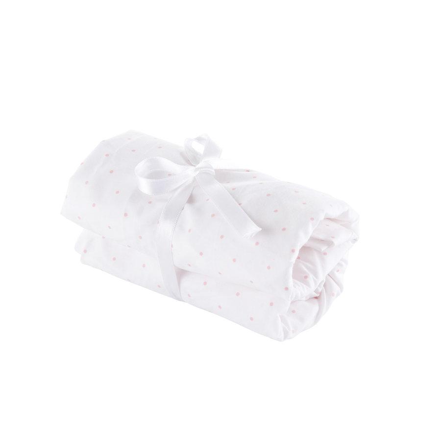 Blush Pink Hoeslaken bed 70x140cm-1