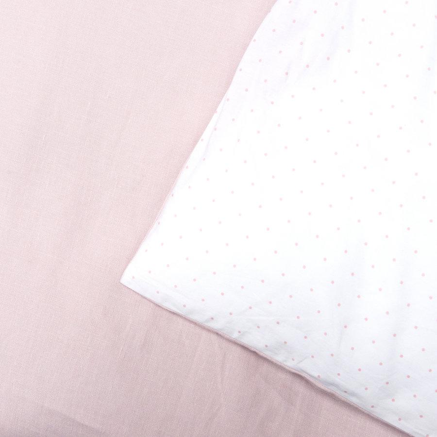 Blush Pink Donsovertrek bed 100x135cm  + sloop-2