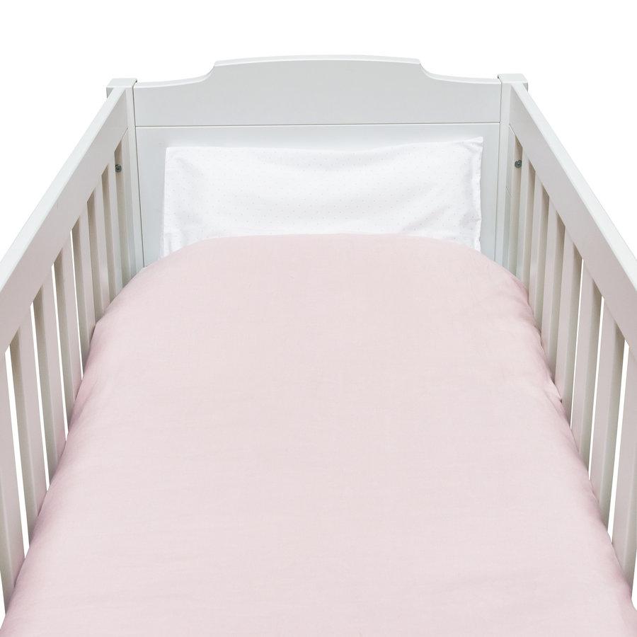 Blush Pink Donsovertrek bed 100x135cm  + sloop-3