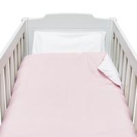 thumb-Blush Pink Donsovertrek bed 100x135cm  + sloop-1