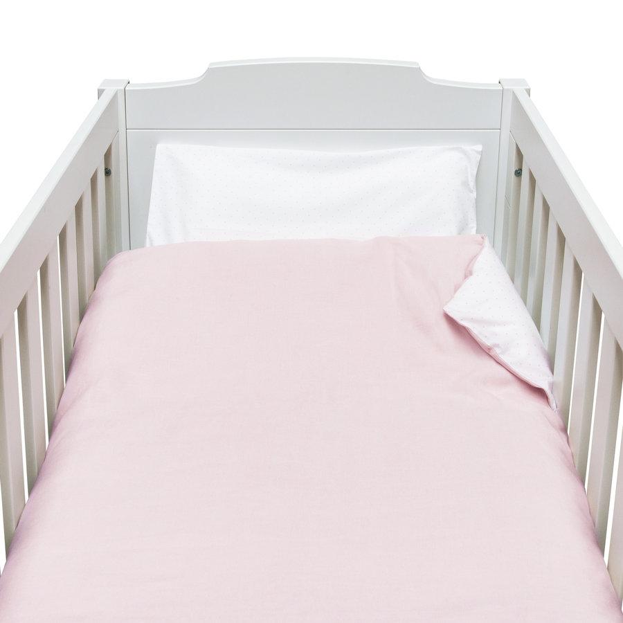 Blush Pink Donsovertrek bed 100x135cm  + sloop-1