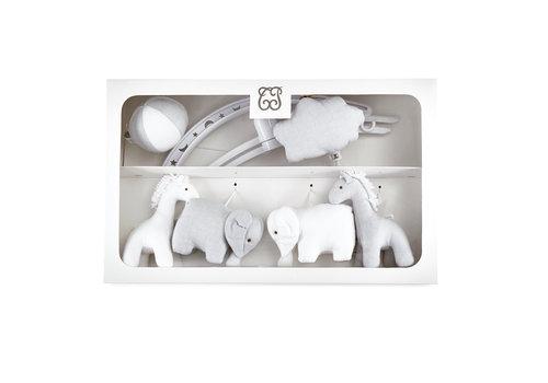"Théophile & Patachou Pearl Muziekmobiel ""olifanten en giraffen"""