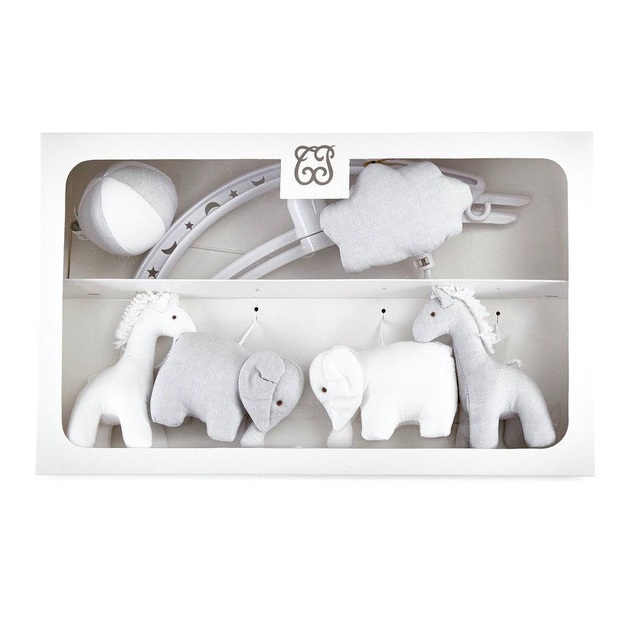 "Pearl Muziekmobiel ""olifanten en giraffen""-1"