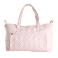 Royal Pink Verzorgingstas + waskussen - Gewatteerd popeline