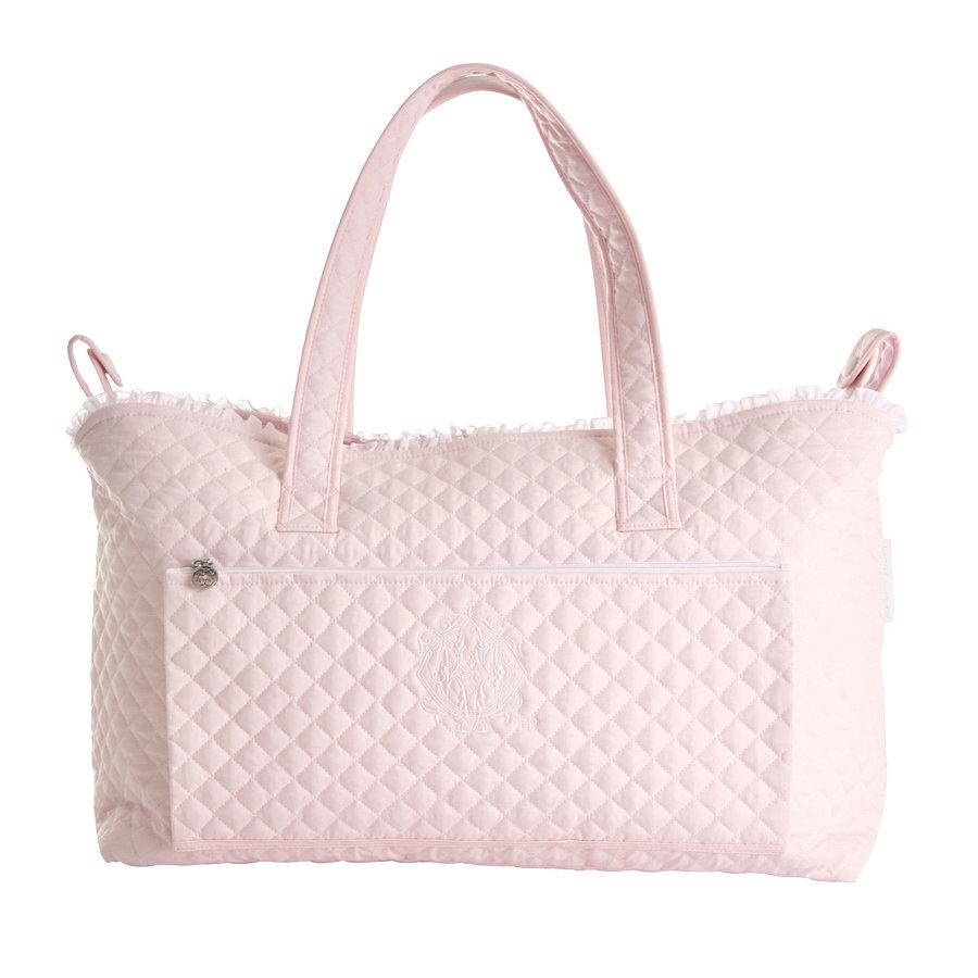 Royal Pink Verzorgingstas + waskussen - Gewatteerd popeline-1