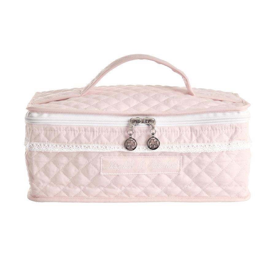 Royal Pink Toilettas met handvat - Gewatteerd popeline-1