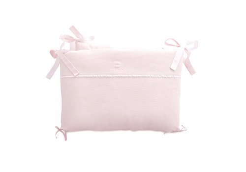 Théophile & Patachou Royal Pink Bedbeschermer 60cm - Gewafeld (60x60x60cm) H:42cm