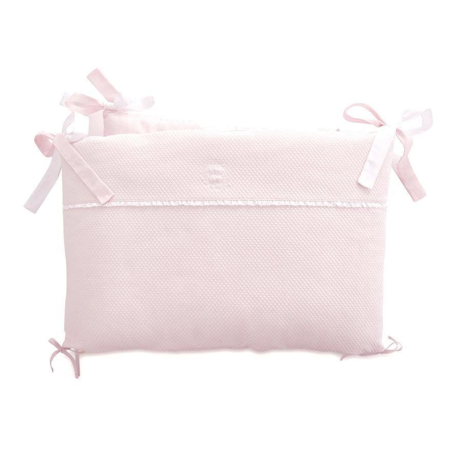 Royal Pink Bedbeschermer 60cm - Gewafeld (60x60x60cm) H:42cm-1