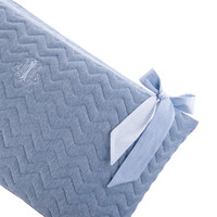thumb-Blue Jeans Bedbeschermer 60cm - Gewatteerd (60x60x60cm) H:32cm-2